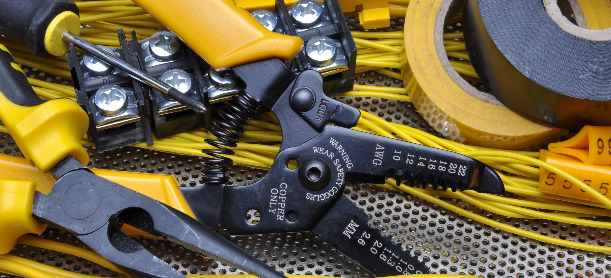 Pliers strippers with electrical component kit